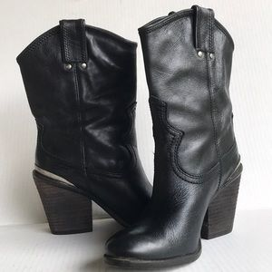 LUCKY BRAND Elle Leather Ankle Boots 5.5M